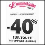Bon Plan Tati : - 40% sur TOUTE la Femme et l'Homme - anti-crise.fr