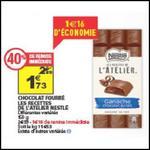 Bon Plan Nestlé : Tablette Fourrée Les Recettes de l'Atelier à 0,73€ chez Auchan - anti-crise.fr