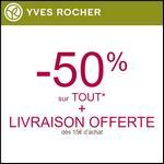 Bon Plan Yves Rocher : -50% sur Une Sélection + Livraison Offerte dès 15€ - anti-crise.fr