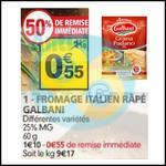 Bon Plan Galbani : Fromage Râpé à 0,15€ chez Auchan - anti-crise.fr