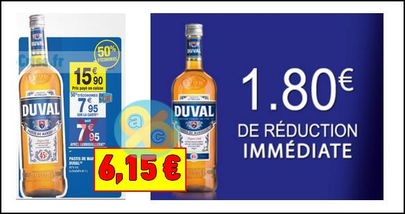 bon plan duval bouteille de pastis 1 litre 6 15 chez carrefour market. Black Bedroom Furniture Sets. Home Design Ideas