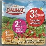 Offre de Remboursement Daunat : Salades Jusqu'à 3€ Remboursés - anti-crise.fr