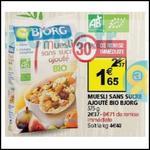 Bon Plan Bjorg : Muesli Sans Sucre Ajouté à 0,94€ chez Auchan - anti-crise.fr