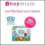 Offre de Remboursement Shopmium : 30% sur Les P'tits Miam Les 2 Vaches - anti-crise.fr