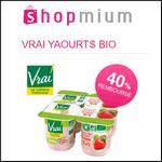 Offre de Remboursement Shopmium : 3 offres 40% sur Yaourt Bio Brassé Vrai - anti-crise.fr