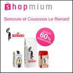 Offre de Remboursement Shopmium : Jusqu'à 60% sur Semoule et Couscous Le Renard - anti-crise.fr