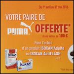 Bon Plan Isoxan : 1 Produit Acheté = 1 Paire de Puma Offerte - anti-crise.fr
