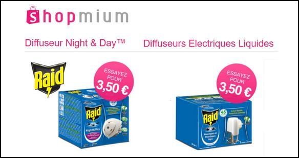 offre de remboursement shopmium 2 offres raid diffuseurs anti moustiques d couvrir pour 3 50. Black Bedroom Furniture Sets. Home Design Ideas