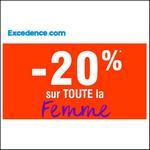 Bon Plan Excedence : -20% supplémentaires sur la Femme - anti-crise.fr