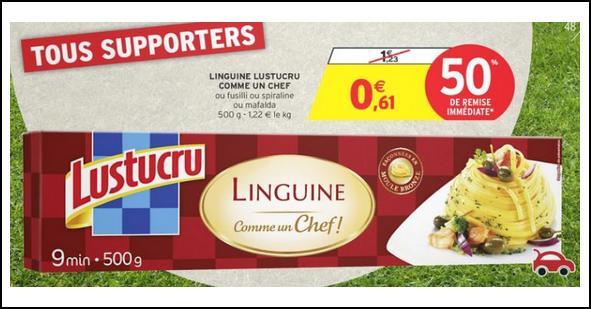 Bon Plan Pâtes Lustucru Comme Un Chef chez Intermarché - anti-crise.fr