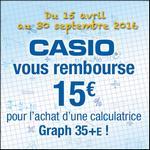 Offre de Remboursement Casio : 15€ sur la Calculatrice Graph 35+E - anti-crise.fr