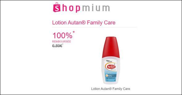 offre de remboursement shopmium lotion autan family care 100 rembours catalogues promos. Black Bedroom Furniture Sets. Home Design Ideas