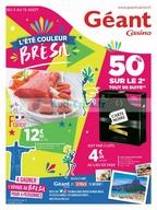 Catalogue Géant Casino du 3 au 13 août