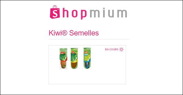 offre de remboursement shopmium 3 offres sur les semelles kiwi catalogues promos bons. Black Bedroom Furniture Sets. Home Design Ideas