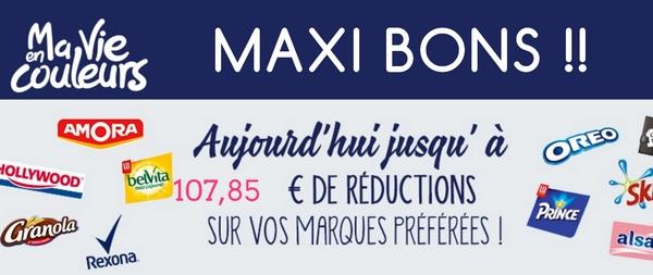 A ne pas Manquer – 30 Maxi Bons sur Ma Vie En Couleurs !