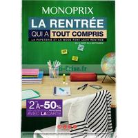 catalogue monoprix du 17 ao t au 4 septembre rentr e scolaire. Black Bedroom Furniture Sets. Home Design Ideas