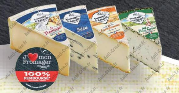 Offre de Remboursement Fromager D'Affinois : 3 Parts de Fromages 100% Remboursé - anti-crise.fr