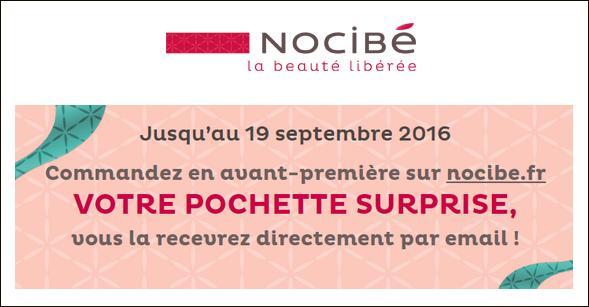 Bon Plan Nocibé : Pochette Surprise à Commander Gratuitement - anti-crise.fr