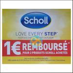 Offre de Remboursement Scholl : 1 € pour 2 Produits - anti-crise.fr