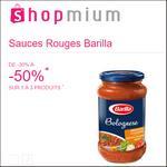 Offre de Remboursement Shopmium : Jusqu'à 50% sur les Sauces Rouges Barilla - anti-crise.fr