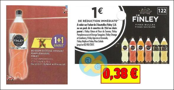 Bon plan Finley : Les 2 Bouteilles de 1,5L à 0,38€ chez Intermarché - anti-crise.fr