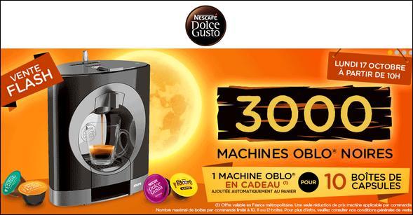 bon plan dolce gusto 10 bo tes de capsules achet es 1 machine oblo offerte. Black Bedroom Furniture Sets. Home Design Ideas