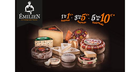 offre de remboursement emilien jusqu 39 10 sur 5 parts de fromages 100 rembours chez. Black Bedroom Furniture Sets. Home Design Ideas