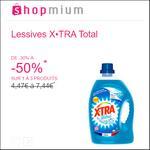 Offre de Remboursement Shopmium : Jusqu'à 50% sur Lessives X•TRA Total - anti-crise.fr