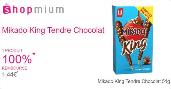 offre de remboursement shopmium mikado king tendre chocolat 100 rembours catalogues promos. Black Bedroom Furniture Sets. Home Design Ideas