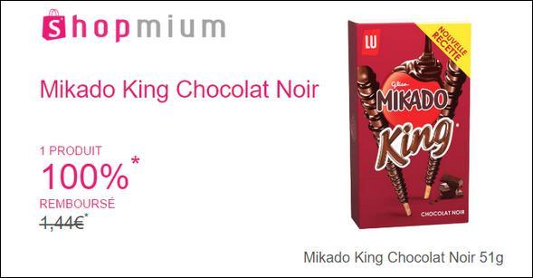 offre de remboursement shopmium mikado king chocolat. Black Bedroom Furniture Sets. Home Design Ideas