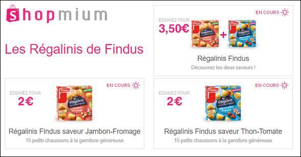 offre de remboursement shopmium 3 offres sur les r galinis de findus catalogues promos. Black Bedroom Furniture Sets. Home Design Ideas