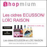 Offre de Remboursement Shopmium : Les cidres Ecusson/Loïc Raison à découvrir pour 2€ - anti-crise.fr