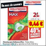 Bon Plan Hollywood : 2 paquets de Chewing Gum Max à 0,46€ chez Auchan - anti-crise.fr