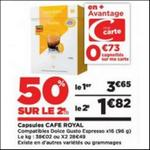 Bon Plan Capsules Café Royal pour Dolce Gusto chez Casino - anti-crise.fr