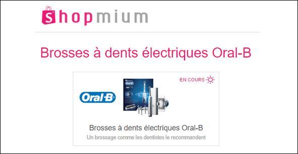 offre de remboursement shopmium 3 offres sur les brosses dents lectriques oral b. Black Bedroom Furniture Sets. Home Design Ideas