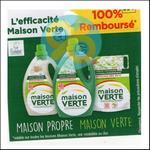 Offre de Remboursement Maison Verte : Lessive 100% Remboursée en 2 Bons - anti-crise.fr
