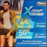 Offre de Remboursement Dim : Jusqu'à 50% sur la Gamme X-Temp - anti-crise.fr