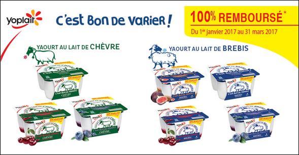 Offre de Remboursement Yoplait : Yaourts au Lait de Chèvre ou Brebis 100% Remboursé - anti-crise.fr