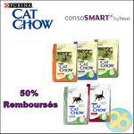 Offre de Remboursement ConsoSmart : 50% remboursés sur Purina® Cat Chow® - anti-crise.fr