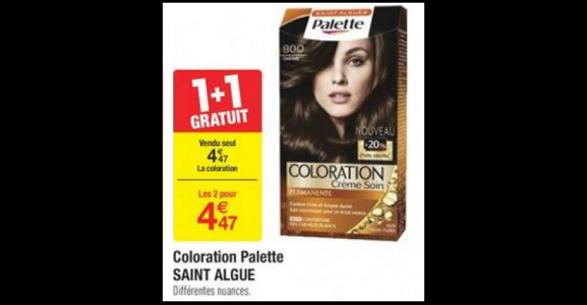bon plan coloration palette chez carrefour anti crisefr - Coloration Saint Algue