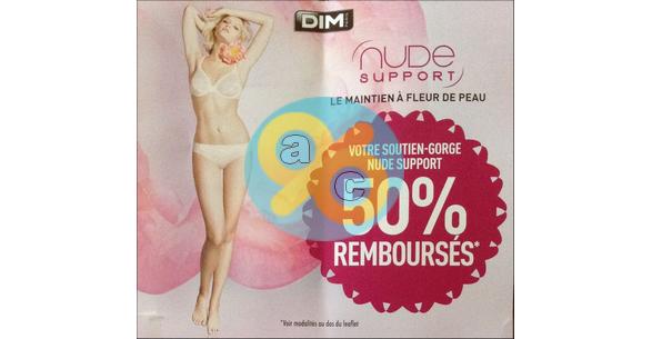 Offre de Remboursement Dim : 50% sur un Soutien-Gorge Nude Support - anti-crise.fr
