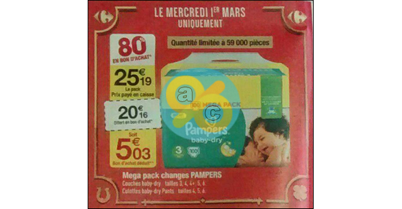 Bon de reduction pampers baby dry a imprimer hot deals - Bon de reduction couches pampers a imprimer ...