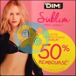 Offre de Remboursement Dim : 50% sur un Soutien-Gorge Sublim - anti-crise.fr
