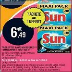 Bon Plan Tablettes Lave Vaisselle Sun chez Leclerc - anti-crise.fr