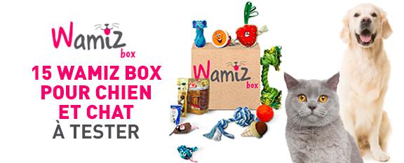 Test de Produit ConsoAnimo : Wamiz Box pour Chien et Chat
