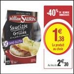 Bon Plan William Saurin : Barquette Micro-Ondable chez Magasins U - anti-crise.fr