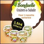 Offre de Remboursement Bonduelle Graines de Salade : 3,50€ Remboursés en Bons de Réduction - anti-crise.fr