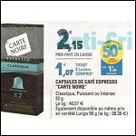 Bon Plan Capsules de Café Carte Noire chez Leclerc - anti-crise.fr