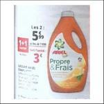 Bon Plan Lessive Ariel Liquide Propre & Frais chez Auchan - anti-crise.fr