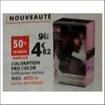 Bon Plan Coloration Pro Color Schwarzkopf chez Auchan - anti-crise.fr